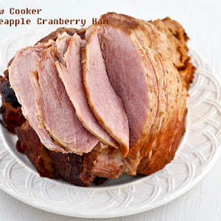 Slow Cooker Pineapple Cranberry Ham