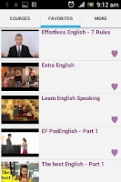 Screenshot of English Conversation Courses