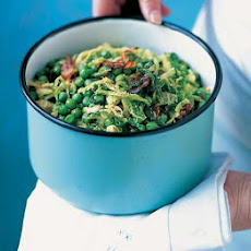 Peas & Spring Cabbage With Pancetta