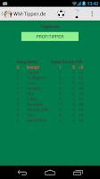 Screenshot of Football Tipping World Cup