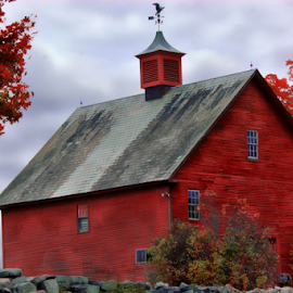Big Red by Janet Lyle - Buildings & Architecture Other Exteriors ( barn, autumn, fall )