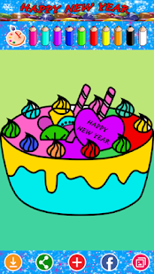Kid Coloring Happy New Year - screenshot