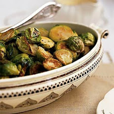 Roasted Brussels Sprouts with Creamy Mustard Sauce