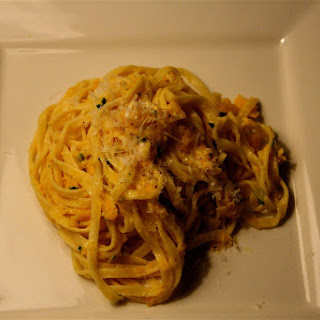 "Linguine ""Cacio e Pepe"" with Shredded Squash"
