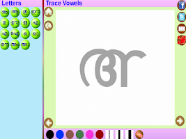 Screenshot of Trace Malayalam Alphabets Kids