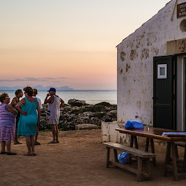 Cova dels Pardals by Joan Vega - People Street & Candids ( old, cova des pardals, sunset, outdoor, street, sea, mallorca, dusk, people, menorca )