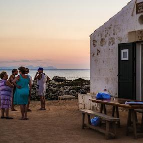 Cova dels Pardals by Joan Vega - People Street & Candids ( old, cova des pardals, sunset, outdoor, street, sea, mallorca, dusk, people, menorca )