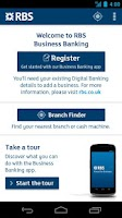 Screenshot of RBS Business Banking
