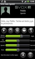 Screenshot of SVOX Spanish Pablo Voice