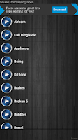 Screenshot of Sound Effects Ringtones