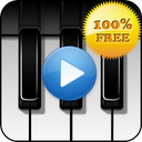 Piano sound to sleep mobile app icon