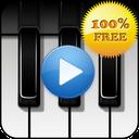 Piano sound to sleep mobile app icon