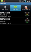 Screenshot of CSBFake Call/SMS/Battery