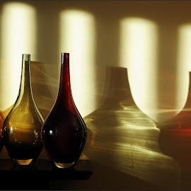 Sun Work by Jim Moran - Abstract Light Painting ( red, yellow., light, jars, sun,  )