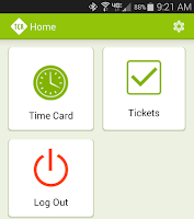 Screenshot of TCR Mobile Application