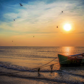 dreams boat by Cornelius D - Landscapes Beaches