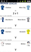Screenshot of EPL Scores