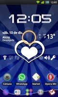 Screenshot of GO Launcher Blue Heart Theme