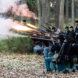 Union firing on Fort McAllister by Mike Watts - News & Events US Events ( civil war, 1800's, people )