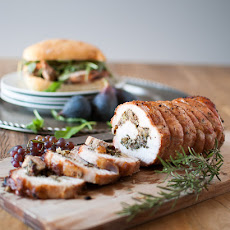 Pork Loin Roulade Sandwiches with Figs & Grapes