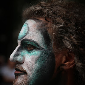 Profile Of A Painted Man by VAM Photography - People Street & Candids ( model, central park., places, nyc, man,  )