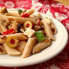 Chicken, Olive and Red Pepper Pasta Salad