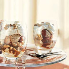 Caramel and Crème Fraîche Sundaes with Cashews