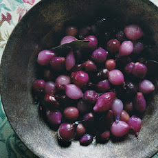 Glazed Pearl Onions and Grapes