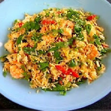 Egg-fried Rice With Chicken And Prawns