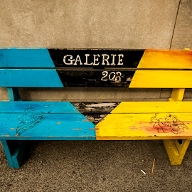 Public Chairs in Montreal, the city of artists. by Faisal Abuhaimed - Artistic Objects Furniture ( public, bench, furniture, object )
