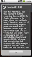 Screenshot of DailyBibleVerse Widget