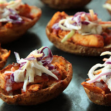 Barbecue Chicken and Coleslaw Potato Skins Recipe