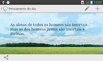 Screenshot of Pensamento do dia
