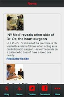 Screenshot of Dr. Oz News Feed
