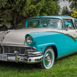 1956 Crown Victoria by Jack Brittain - Transportation Automobiles ( car, lakeshore park, canada, 1956, ontario, car show, ford, crown victoria, oshawa )