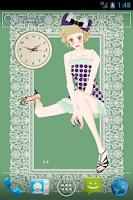 Screenshot of おしゃれでかわいい女の子ライブ壁紙1(アナログ時計)
