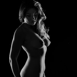 Lady in shadow by John Einar Sandvand - Nudes & Boudoir Artistic Nude ( magda, krakow, artistic nude )