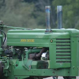 by Tyler Klinger - Transportation Other ( green, john deere, tractor, classic )