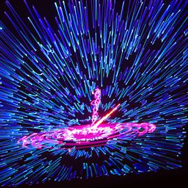 A splash of light ! by Jim Barton - Abstract Patterns ( laser light, splash, colorful, light design, a splash of light, laser design, laser, laser light show, light, science )