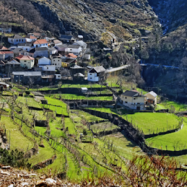 Little village on the mountain by Antonio Amen - Landscapes Mountains & Hills ( village )