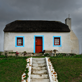 House on the Hill by Martha van der Westhuizen - Buildings & Architecture Homes ( thatched, hill, elim, cottage, steps )