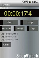 Screenshot of StopWatch Free