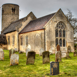 R.I.P. by Janet Morgan - Buildings & Architecture Places of Worship ( tombstones, church, suffolk, stained glass, graveyard )