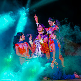 ECHO by Deep Bhatia - People Musicians & Entertainers ( expression, stage performers, dancers, people, smoke )