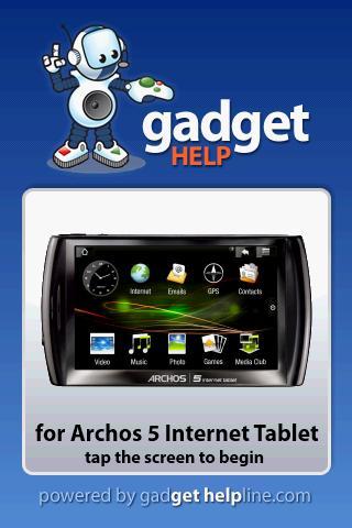 Archos 5 Tablet - Gadget Help