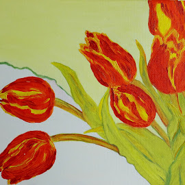 orange tulips by Dubravka Penzić - Painting All Painting (  )