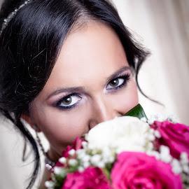 Radmila & Dejan by Jovan Barajevac - Wedding Bride ( rose, bleach, wedding, bucket, bride, eyes )