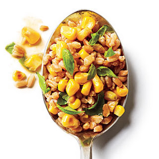 Basil and Corn Farro Salad