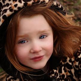 Modeling Leopard by Cheryl Korotky - Babies & Children Child Portraits