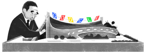 Google Doodle Kenzo Tange's 100th Birthday